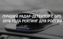 Лучший радар-детектор с gps 2018 года рейтинг для России
