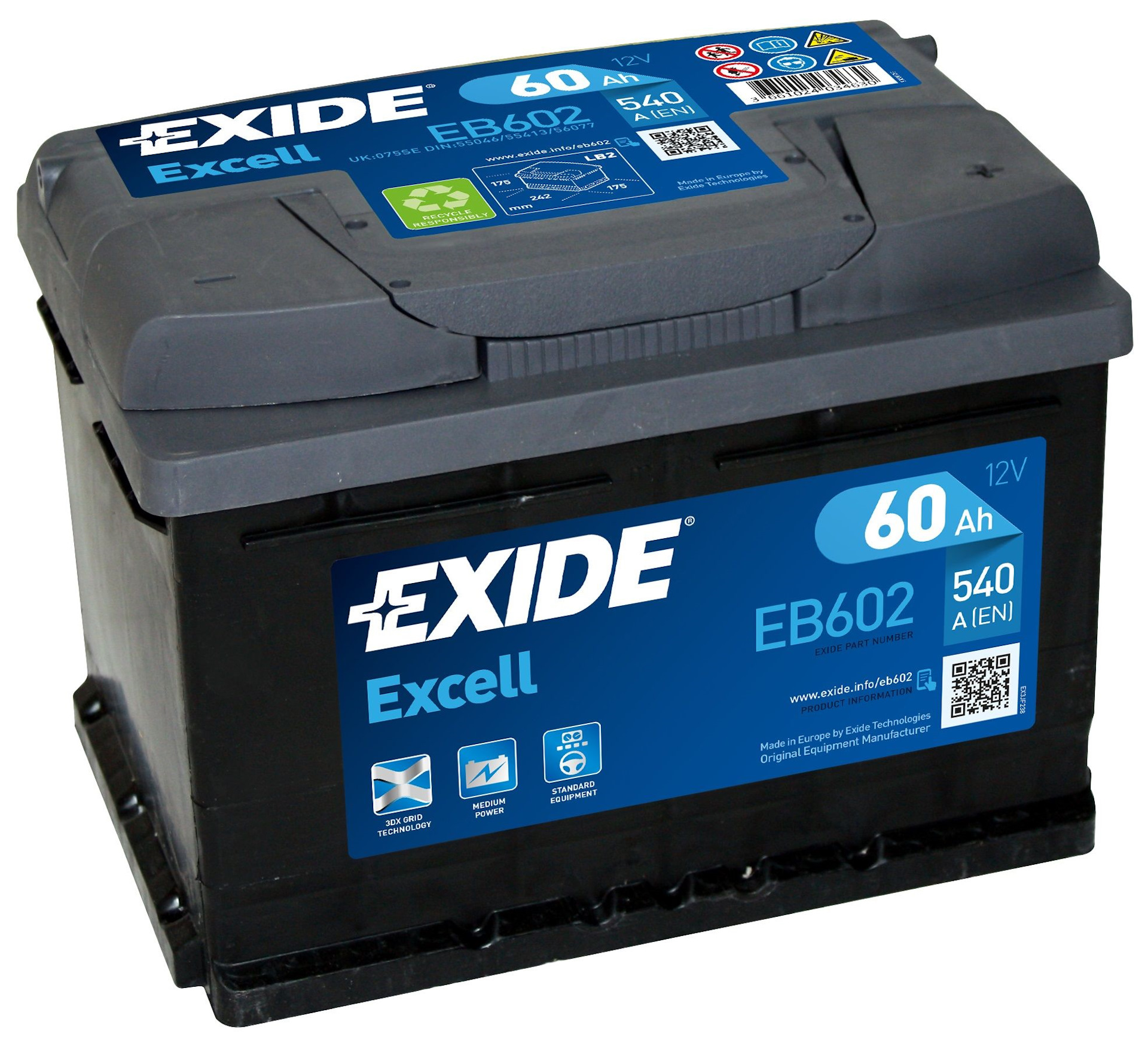 Exide Excell EB602