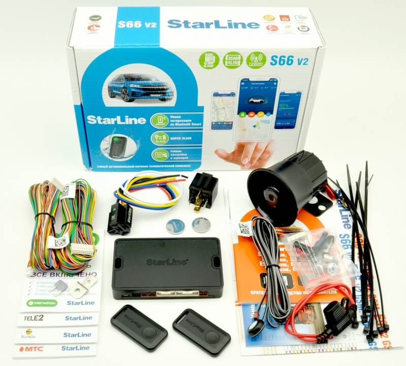 StarLine S66 BT 2CAN/4LIN GSM 2SIM Ver.2